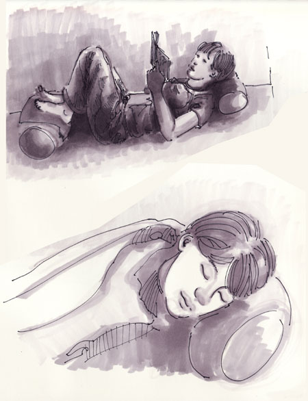 Reading, Sleeping