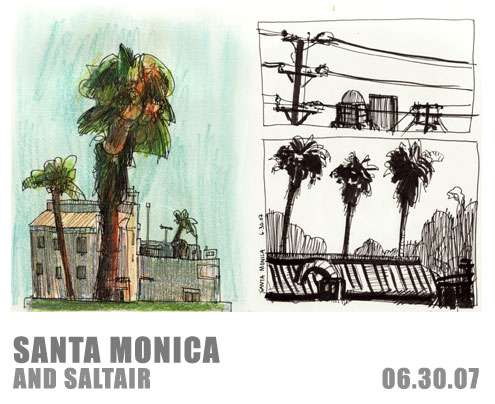 Sketches of Los Angeles, Set 2: Santa Monica and Saltair