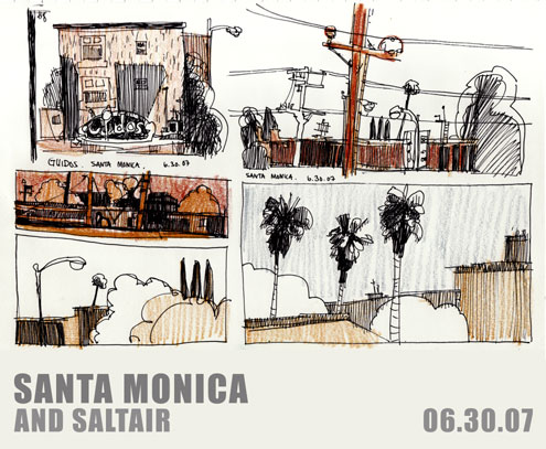 Sketches of Los Angeles, Set 3 - Santa Monica and Saltair