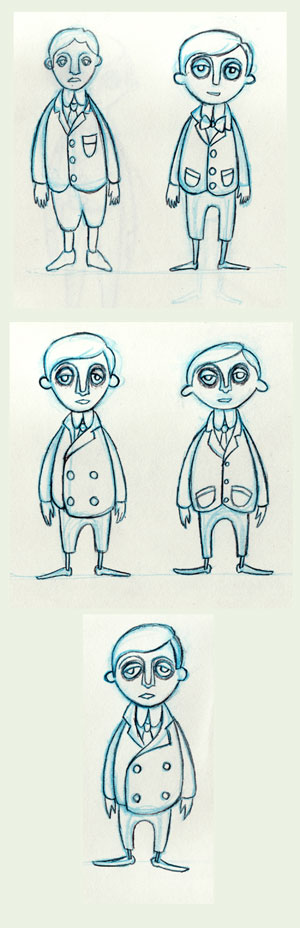 Refined Character Designs for Basil