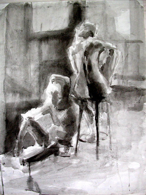 Life Drawing, Seated Figures