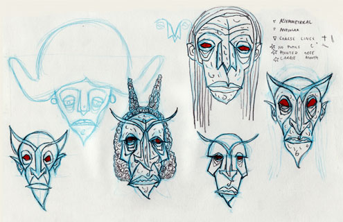 Head Designs for Miss Mildew, One