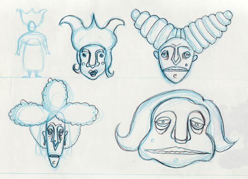 Head Designs for Miss Mildew, Two