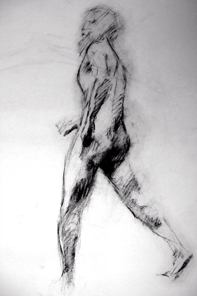 Life Drawing, Walking Man