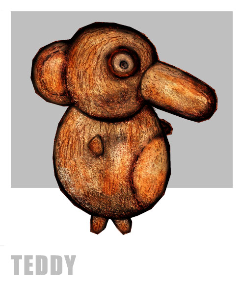 Papoose and Bear - Teddy Character