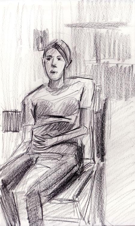 Angie sitting