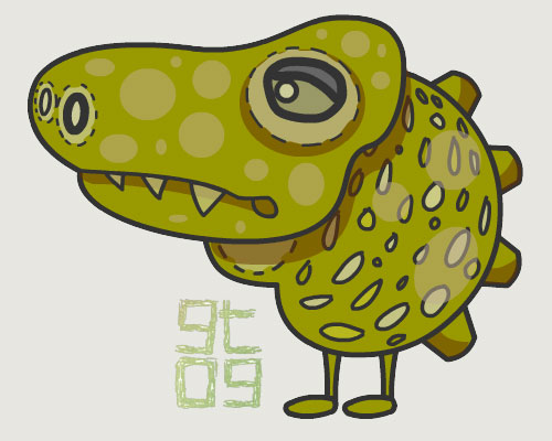 Croc Character Design, Giles Timms 2009
