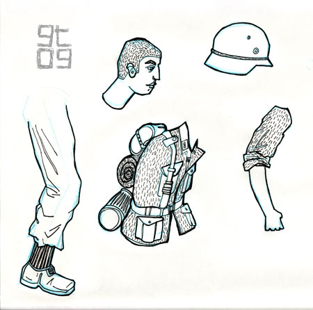 Model Sheet of Soldier, Giles Timms 2009