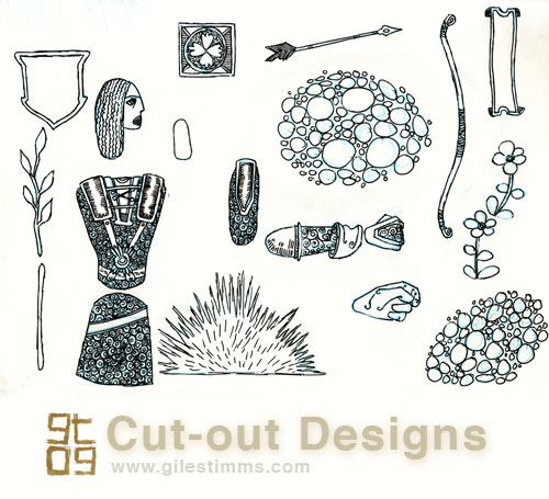 Archer Cut-out Designs, Giles Timms 2009