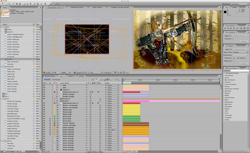 Scene Setup in After Effects, Giles Timms 2009