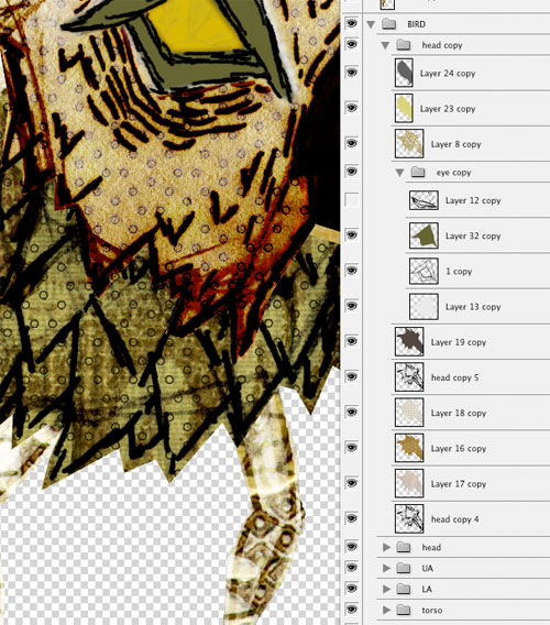 Photoshop screen-shot of texture and color layers