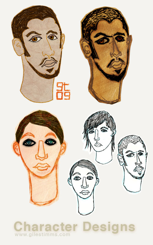 Freelance Character Design, Giles Timms 2009