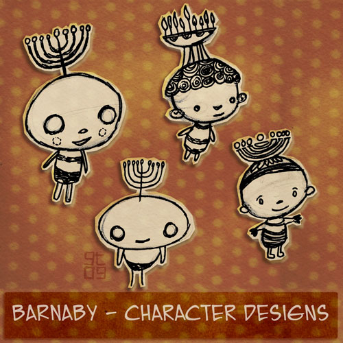 Barnaby Character Design, Giles Timms 2010