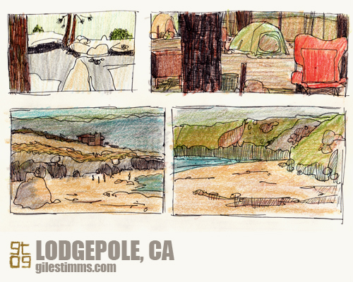 Sketches of Lodgepole, Sequoia National Park, Giles Timms 2009