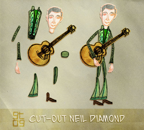 Neil Diamond Cut-Out Design, Giles Timms 2010