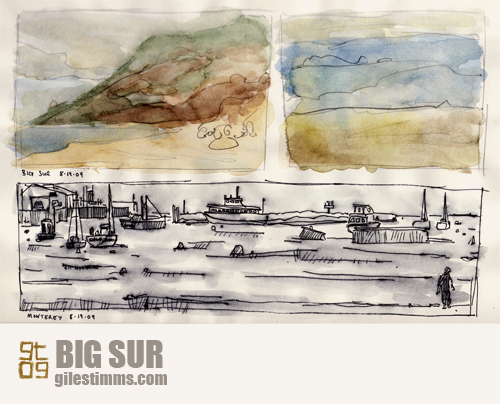 Sketches of Big Sur and Monterey, Giles Timms 2009