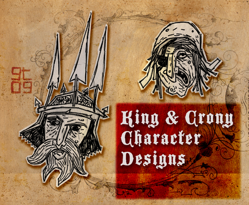 King and Crony Character Design, Giles Timms 2010