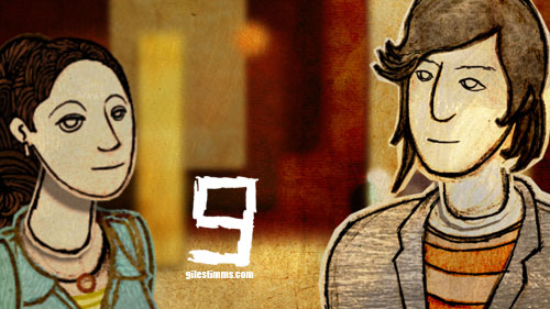 Still image from my Animated Kiss Sequence for the film 'Sunset Stories,' depicting Monique Curnen and Sung Kang 2012