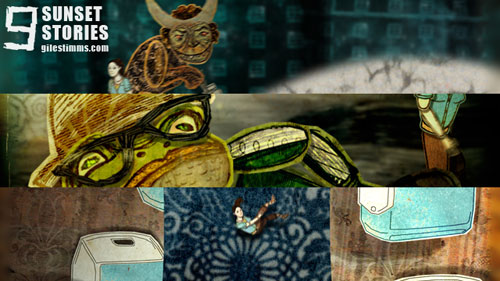 Animated End Title Sequences for the film 'Sunset Stories,' 2012