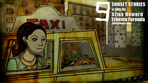 Still image from my animated End Title Sequence for the film 'Sunset Stories' premiering at SXSW, 2012