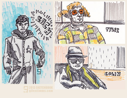 Sketchbook Life Drawing: The Dudes, Giles Timms 2013