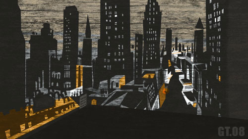 Background Painting: Cityscape, Giles Timms 2008