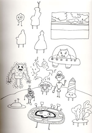 Original sketchbook drawing: Brethren and Ms.