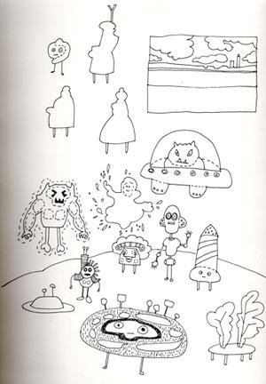 Original sketchbook drawing: Brethren and Ms.