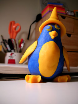 Angie's Play-Doh penguin