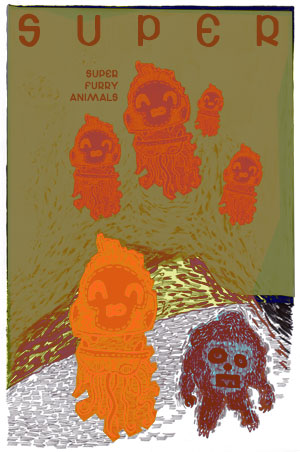 Super Furry Animals' Poster