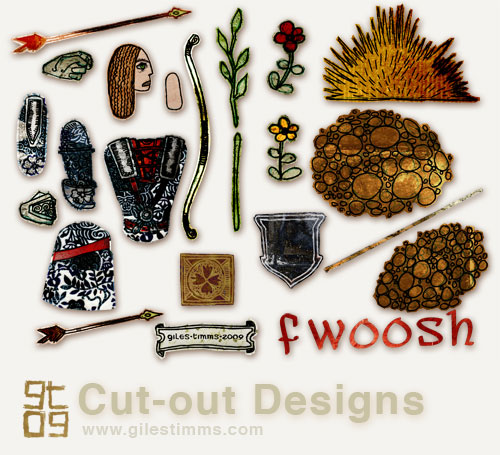 FWOOSH, Archer Cut-Out Design, Giles Timms 2009