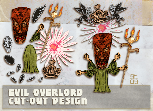 EVIL OVERLORD, Cut-Out Design, Giles Timms 2010